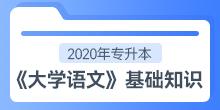 2020年专升本《大学语文》基础知识