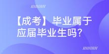 【成考】毕业属于应届毕业生吗?