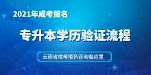 2021年云南省成考专升本学历验证流程